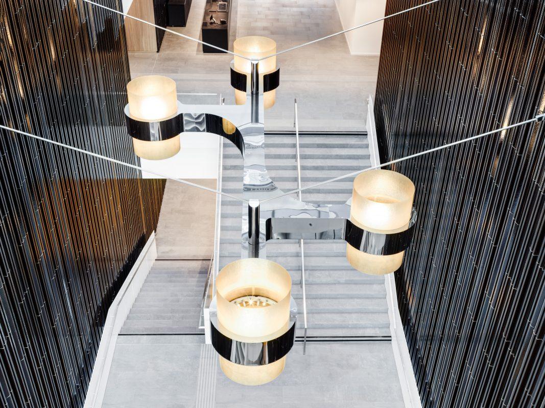 Haus der Musik Innsbruck Treppenaufgang von oben