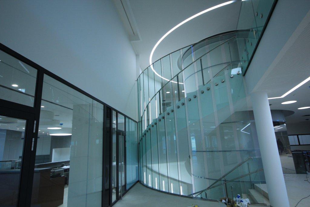 Raiffeisen Rechenzentrum Raaba Treppenaufgang innen
