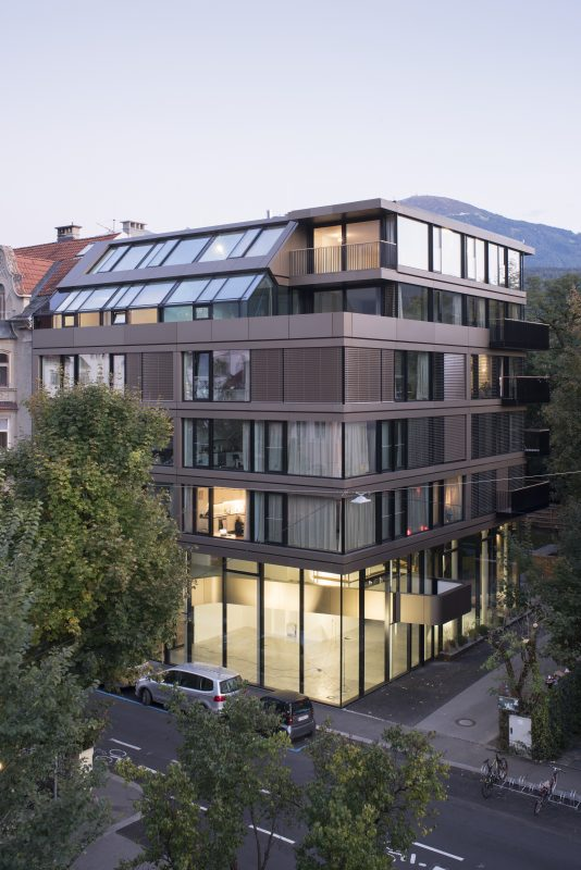 Müllerstraße, Innsbruck Fassade straßenseitig