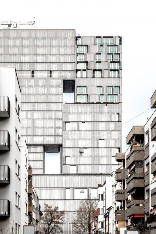 Meret Oppenheim Hochhaus Basel Fassade Nahansicht