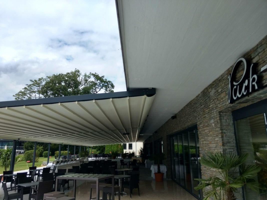 Parkhotel, Pörtschach Terrassenüberdachung Ansicht Übergang