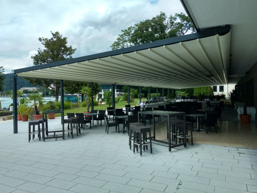 Parkhotel, Pörtschach Terrassenüberdachung seitlich