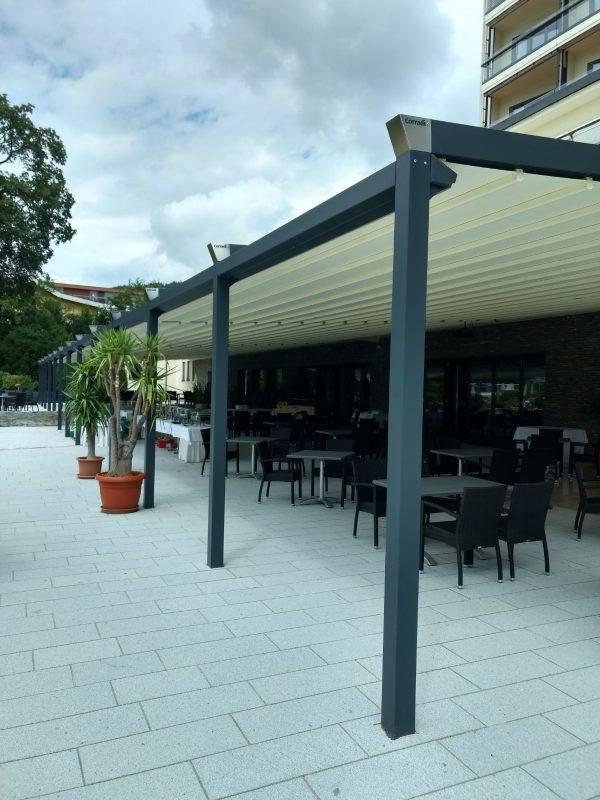 Parkhotel, Pörtschach Terrassenüberdachung mit Steher