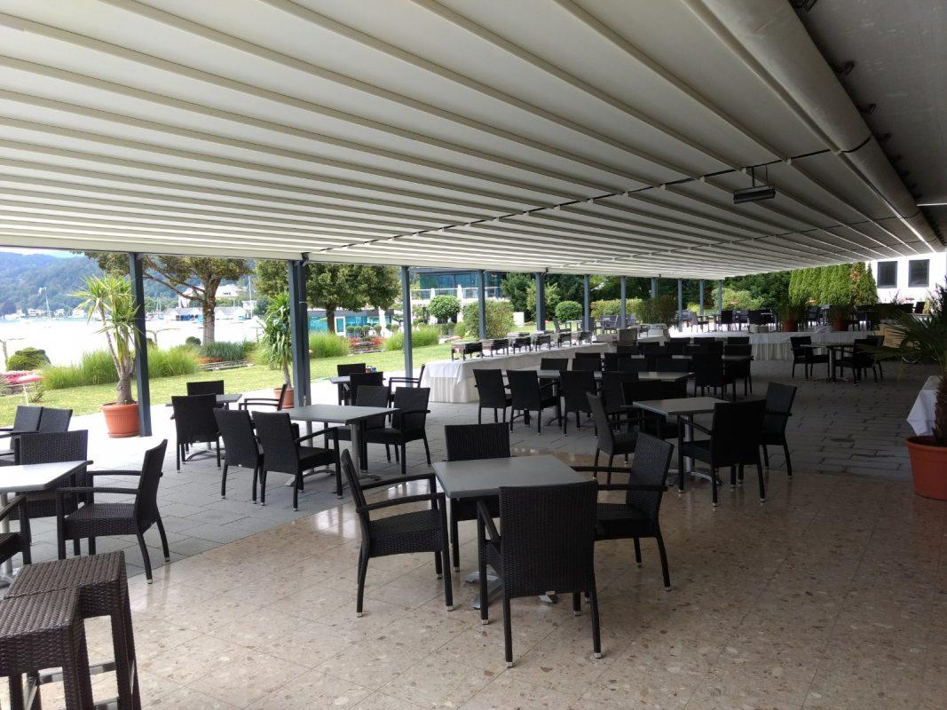 Parkhotel, Pörtschach Terrassenlösung Überdachung